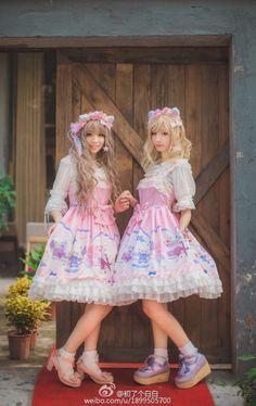 [-♡–> Precious Clove -Singing in the Rain- JSK Double Gothic Lolita Fashion, Singing In The Rain, Lolita Dress, Harajuku, Cosplay, Pretty, How To Wear, Beautiful, Dresses