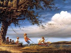 Terry Redlin  Spring Fever, I have many pics & lots of his plates!!!
