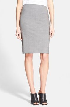 $215, Theory Stretch Wool Pencil Skirt. Sold by Nordstrom. Click for more info: https://lookastic.com/women/shop_items/154325/redirect