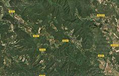 Wikiloc - route Volcà Banya del Boc, Vall del Llémena - Llorà, Catalunya (España)- GPS track