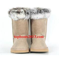 UGGs Wholesale Classic Short 5825 Boots Sand Fox Fur
