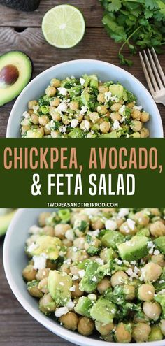 Spare your five minutes preparing this simple chickpea feta salad recipe! It is a flavorful salad made with chickpea avocado and feta combined with red onions cilantro and lime dressing. This is the perfect dish for lunch dinner or snacks! Chickpea Recipes, Vegetarian Recipes, Cooking Recipes, Healthy Recipes, Health Salad Recipes, Lunch Recipes, Cooking Tips, Chickpea Feta Salad, Feta Salat
