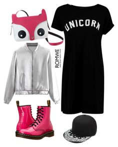 """""""Animal Bag"""" by tonia-ro ❤ liked on Polyvore featuring Boohoo and Dr. Martens"""