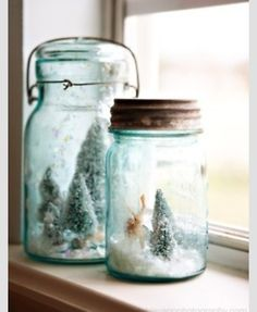 Home made snow globes