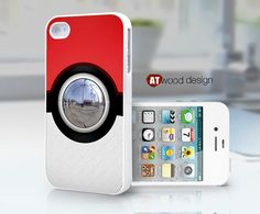 Pokemon Pokeball design unique iphone 4 case iphone by Atwoodting, $13.99