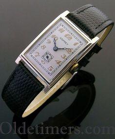 1930s 9ct gold vintage Asprey watch