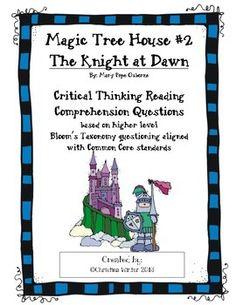 Magic Tree House #2 Knight at Dawn Reading Response Unit