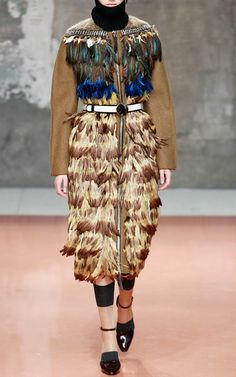 Marni Fall/Winter 2014 Trunkshow Look 45 on Moda Operandi Live In Style, Style Me, Runway Fashion, High Fashion, Hippie Chic Fashion, Global Style, Fashion Sketches, Fashion Details, Marni