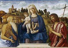 La Sacra Conversazione della Madonna col Bambino tra i santi Girolamo e Giovanni Battista è un dipinto a olio su tavola (102x144 cm) di Cima da Conegliano, databile al 1492-1495 e conservato nella National Gallery of Art di Washington.