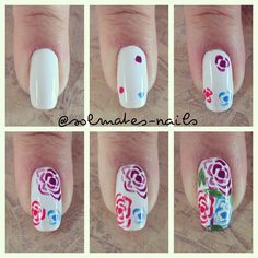 Rose Nail Design Tutorial