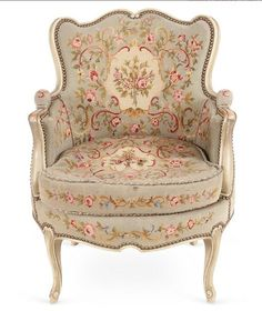French Décor - Louis XVI Needlepoint Chair