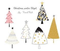 Christmas winter Christmas Clipart Instant DownloadPNG by HandMek