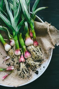 Spring garlic/young garlic :))) P.s... hungry :) !...totato - potato ....oh,dear ;) X