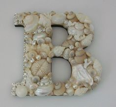 Seashell monograms for wedding decorations