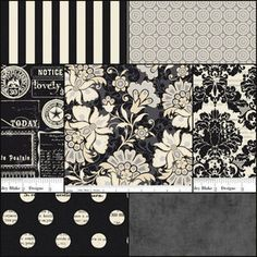 Black and White, textures mixed pattern mixing
