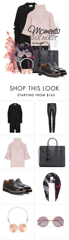 """Moments!"" by anallasa ❤ liked on Polyvore featuring Acne Studios, By Malene Birger, RED Valentino, Yves Saint Laurent, Ganni, Burberry, Frends, Sunday Somewhere and anallasa"