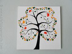 Kleeblatt-Baum auf Leinwand