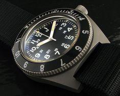 Benrus Type II Navy Seal Diver Watch. One piece case!
