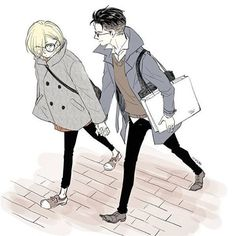 Yurio looks like this cute art student while Otabek looks like this sweet, rich engineering student…»