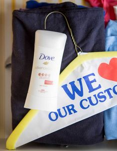Hacks for fixing clothes 4. Remove deodorant marks with the foam cover of a dry clean hanger. Rubbing the spot with a pair of light-wash jeans works well too (the dye from dark jeans might transfer onto the fabric).