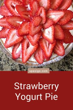 This Strawberry Frozen Yogurt Pie is a variant one of my favorite summer treats–Yogurt Pie. Not to mention, yogurt pie is one of those simple, sweet pleasures on a hot summer day. Strawberry Yogurt Pie, Strawberry Whipped Cream, Yogurt Dessert, Summer Treats, Graham Crackers, Vegetarian Recipes, Cold, Baking, Sweet