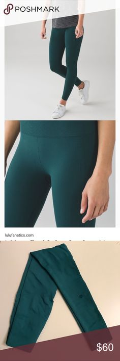 🍋Lululemon Flow And Go Legging •Lululemon Flow And Go Leggings •Size 2 •Deep Green Color •In Good Condition! lululemon athletica Pants Leggings