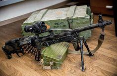 "Пулемёт ""Печенег"" в компоновке ""буллпап"".  ""Pecheneg"" machine-gun in ""bullpup"" variant."