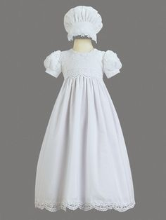 Girls Christening Cotton Embroidered Christening Gown - Pink Princess