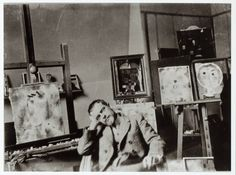 Paul Klee in his studio.