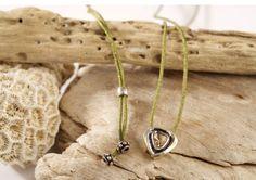 POLKI DIAMOND HEART. Heart shaped polki diamond necklace with adjustable cord. Jewel unique bohemian style symbol of love. #piabarcelona #diamondheart