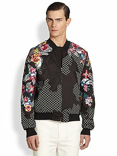 3.1 Phillip Lim Embroidered Floral Bomber