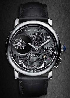 La Cote des Montres : La montre Rotonde de Cartier Répétition Minutes Double Tourbillon Mystérieux - L'osmose des signatures Maison