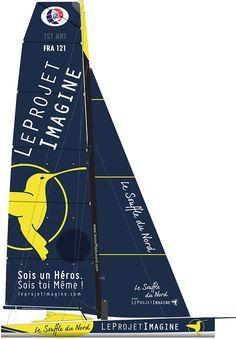LE SOUFFLE DU NORD POUR LE PROJET IMAGINE Numéro de voile : FRA 60 Anciens noms du bateau : Groupe Bel Architecte : VPLP-Verdier Chantier : Indiana Yachting (Scarlino, Italie) Date de lancement : 01 janvier 2007 Longueur : 18,28 m Largeur : 5,50 m Tirant d'eau : 4,50 m Déplacement (poids) : 7,7 tonnes Nombre de dérives : nc Hauteur mât : 28 m Voile quille : Carbone Surface de voiles au près : 340 m2 Surface de voiles au portant : 570 m2