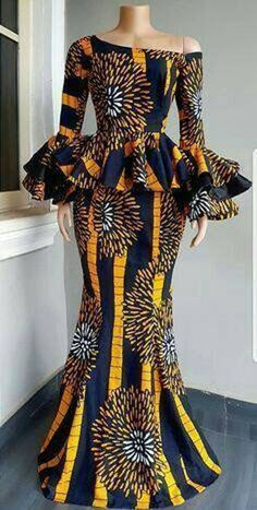 Latest African Fashion Dresses, African Dresses For Women, African Print Fashion, Africa Fashion, African Attire, Ankara Fashion, Fashion Top, African Women Fashion, Modern African Dresses