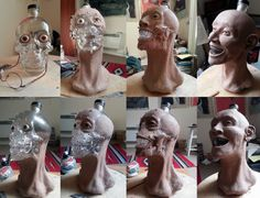 A forensic facial reconstruction of the crystal head vodka bottle. #forensic #science #crystal #head #vodka