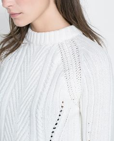 Image 5 of RIBBED CABLE KNIT SWEATER from Zara