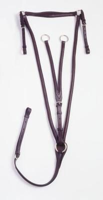 Silver Fox Raised Running Breastplate Martingale, Full, Brown! Only at Tina's Horse Tack! Be sure to check out our website! **Website under construction until July-August 2013**