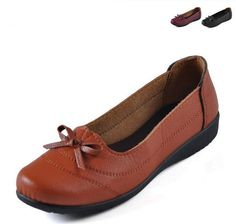 Leather Boat Shoes loafers Flat Heel Round Toe Gommini Loafers Sweet Flat Four Seasons Shallow Mouth Women's Shoes 3Colors ws132