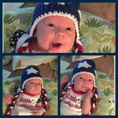 Happy 4th of July from Teagan. #crochet #granddaughter