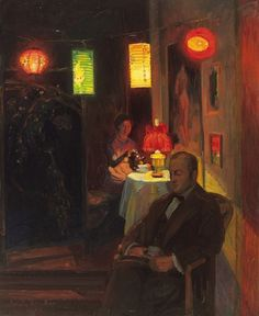Erich Kleiber, Evening Tea-time with Chinese Lanterns, 1912