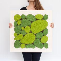 Vypletané machy 60 x 60 Moss Art, How To Make