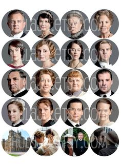 Downton Abbey Bottle Cap Images by hulajo on Etsy, $2.25