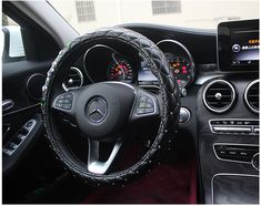 Buy Wholesale Crystal Lace Leather Vehicle Steering Wheel Covers 15 inch - Black from Chinese Wholesaler Car Steering Wheel Cover, Car Interior Decor, Buy Wholesale, Car Accessories, Luxury Cars, Dream Cars, Georgia, Crystals, Decoration