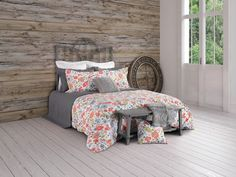 For a spring full of flowers! Viva collection duvet covers.  In addition to this beautiful duvet cover in spring colours, pillowcases are included. Composed of 100% cotton and the whole is easily washable and dryable by machines.