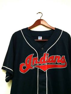 Awesome 50 50 vintage Cleveland Ohio Indians baseball jersey -- this  hipster tee is 7d212c9a1