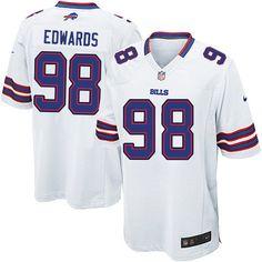 Nike Limited NFL Jersey White Youth Dwan Edwards Jersey Buffalo Bills #98 Jersey Sale