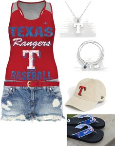 """Texas Rangers Baseball"" by ding1 on Polyvore"