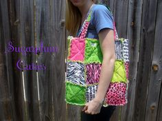 rag quilt bag - this would be easy to make