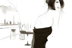 romantic AND modern.  Sophie Griotto 1975 | French fashion illustrator
