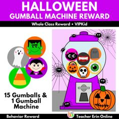 This HALLOWEEN themed gumball machine student incentive adds a new twist to your gumball machine reward! Each gumball features a Halloween themed gumball to reward your students. Your students will LOVE adding these fun gumballs to the machine as their earn their reward, including a ghost, tombston... Behavior Rewards, Classroom Rewards, Gumball Image, Whole Class Rewards, Student Incentives, Reward Yourself, Reward System, Gumball Machine, Classroom Community